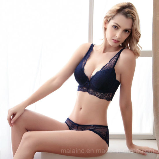 Top Selling Sexy Push up Ladies Lace Bra Panty Set M9172