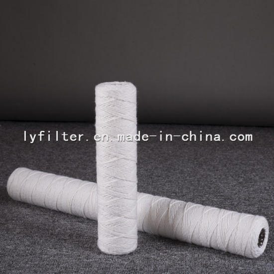 10 Micron 30 Inch String Wound PP Spun Filter Cartridge with 222/226/Fin End Cap