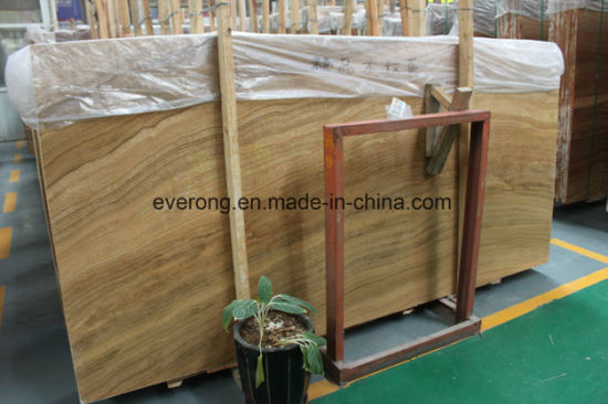 Natural Yellow Wood Grain Marble for Interior Decoration