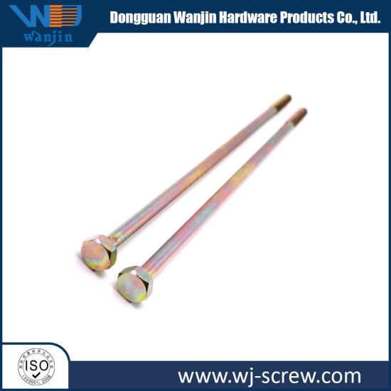 Color-Zinc Plated Super Long Carbon Steel Hexagon Head Bolt pictures & photos