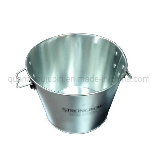OEM Plated Zinc Tin Beer Ice Bucket