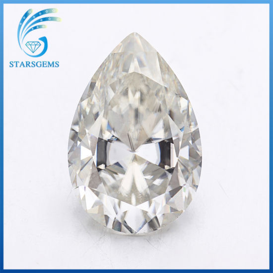 3.0 Carat 12X8mm Large Size Pear Brilliant Cut Moissanite for Engagement Rings pictures & photos