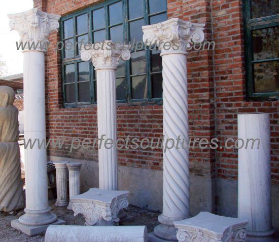 China Modern Design Square Pillar Cap Natural Solid Capital Marble Stone Columns For Garden Home Decoration Qcm116 China Corinthian Pillar Greek Pillar