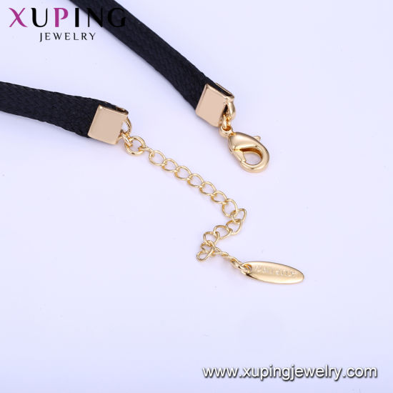 44242 Xuping Fashion 18K Gold Color Necklace pictures & photos