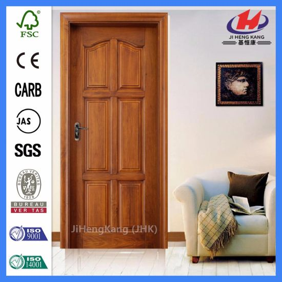 china cheap solid cottage oak veneer interior arched wooden doors
