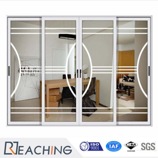 China Latest Design Hot Sell Aluminum Frame Glass Sliding Door For