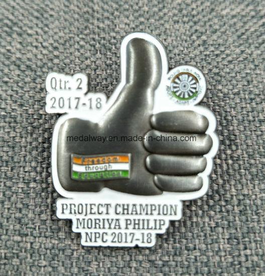 Wholesale Brass Die Strike Soft Enamelled Pin Badge