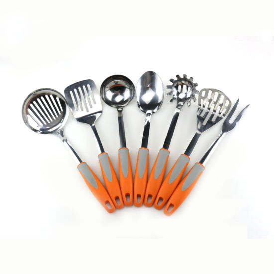 Stainless Steel Kitchen Utensil Set Silicone Cooking Utensils with Large &  Small Spatulas