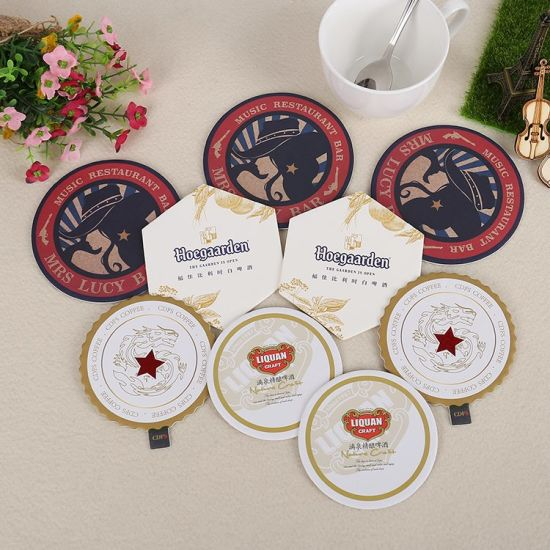 china custom hotel paper disposable drink coasters yh dc024