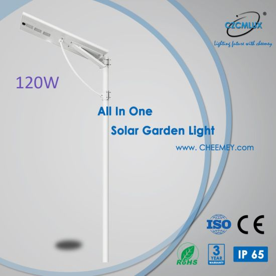 All in One Solar Street Light Integrated Design 120W