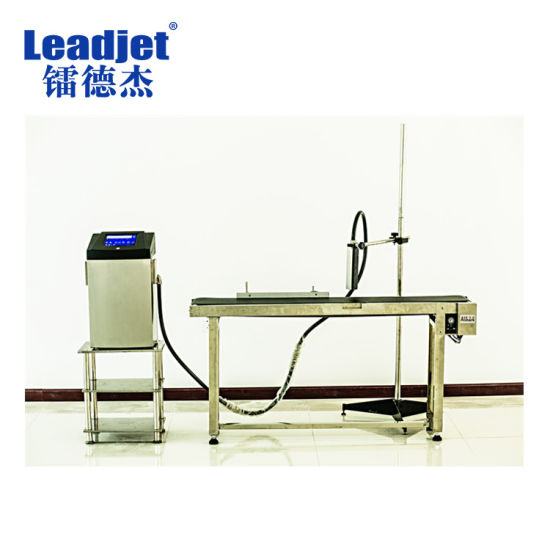 Leadjet V380p White Ink Expiry Date Code Inkjet Printer for Glass Bottle pictures & photos