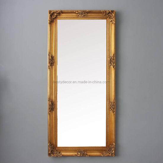 China Large Floor Full Length Gold, Gold Baroque Mirror Full Length