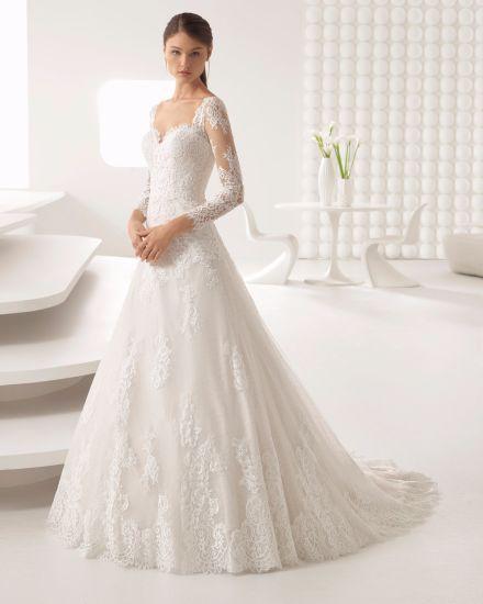 China New Arrive Sweetheart Long Sleeve Lace Bridal Dress Wedding ...