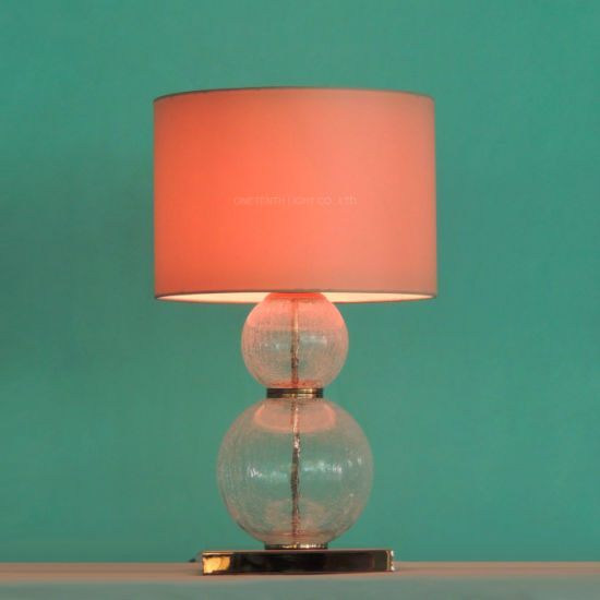 China Hot Sell Modern Style Blown Bubble Glass Table Lamp For Hotel