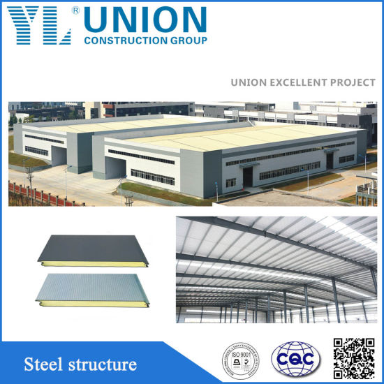 China Prefab Steel Frame Building with Steel Structure Design ...