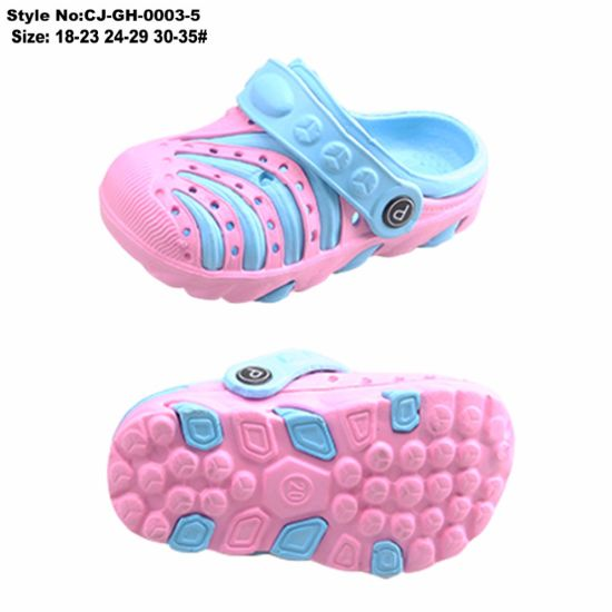 Lovely Cartoon Designs Anti-Slip Kids′ EVA Clog with Charms pictures & photos
