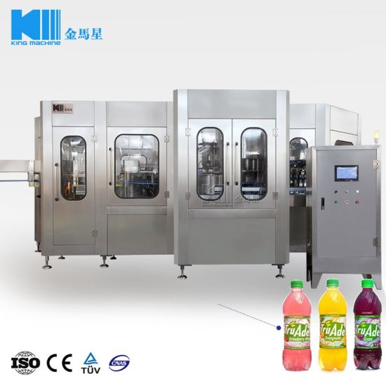 China Automatic Apple Juice Glass Bottle Filling Equipment In