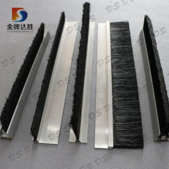 F/H Shape Aluminum Support Sealing Door Weather Strip Brush