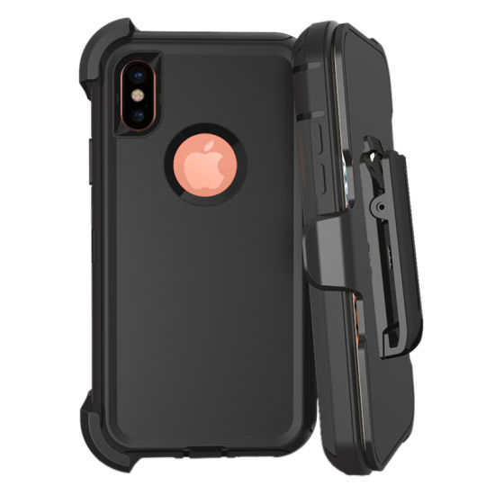 Wholesale Stand Armor Robot 3 in 1 Strap Slip PC+TPU Case for iPhone X