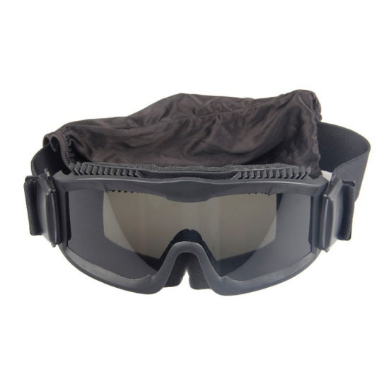 Flexible Vintage Black Dustproof Desert Combat Army Goggles Shooting Glasses