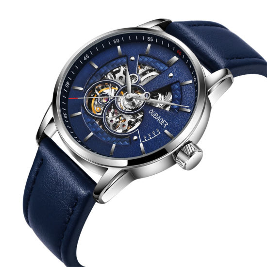 Men Automatic Mechanical Watch Tourbillon Leather Business Fashion Top Luxury Brand Gold Watches Relogio Masculino Gifts