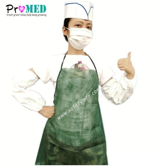 Disposable Medical SMS Apron pictures & photos