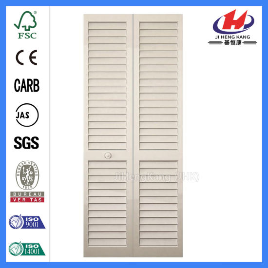 China Traditional Wood White Wooden Blinds Shutter Closet Door