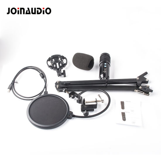 Professional Condenser Microphone Sound Recording Microphone with Bracket