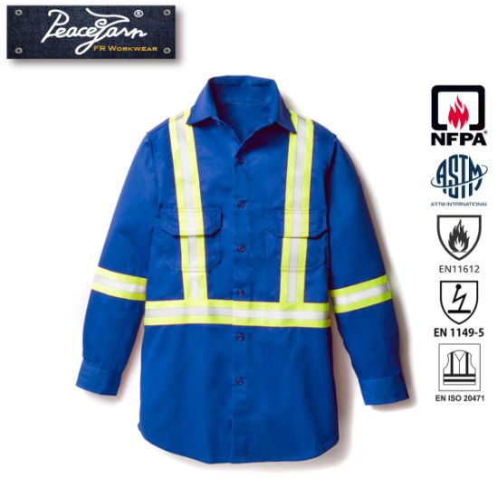 Flame Retardant Reflective Safety Workwear with Hi Vis Trim