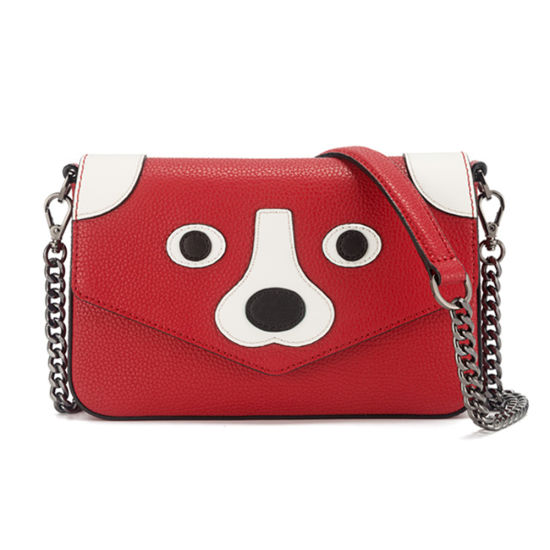 Lady Cartoon Handbag Genuine Leather Shoulder Hand Bag