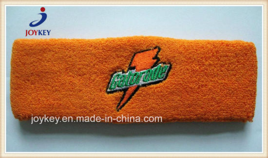High Quality Custom Cotton Embroidery Head Sweatband