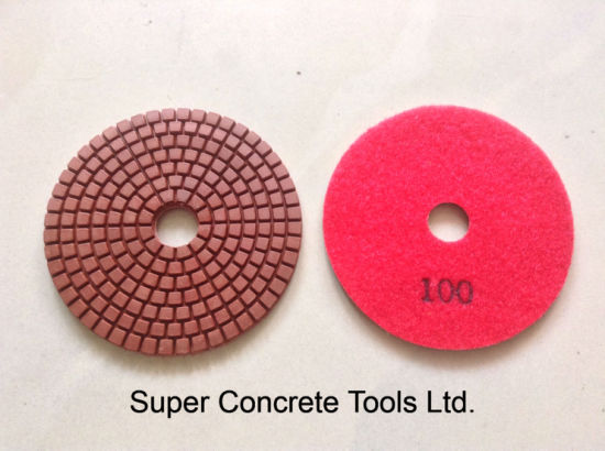 Bright Red Diamond Dry Wet Polishing Pads pictures & photos