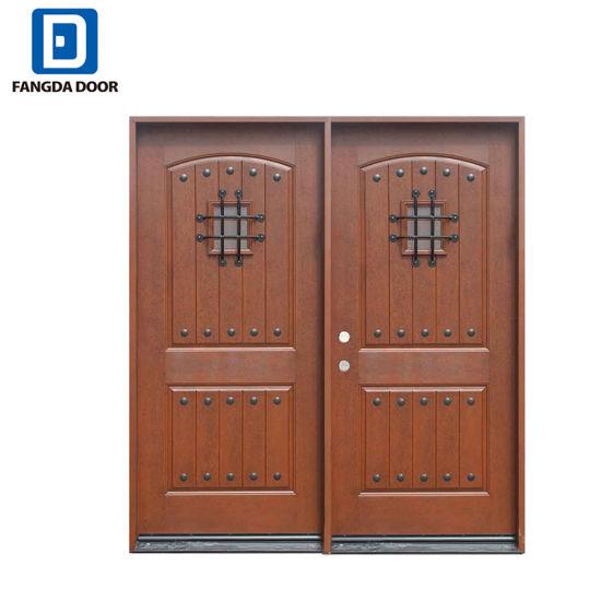 China Exterior Main Gate Design Villa Entrance Door Fiberglass Door