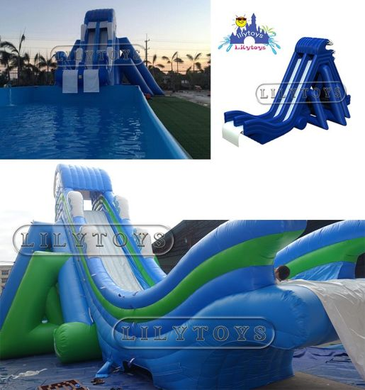 Lily Toys Factory Price Inflatable Large Water Slide/ Water Games Slide for  Adult and Kids/ Inflatable Water Slide for Swimming Pool