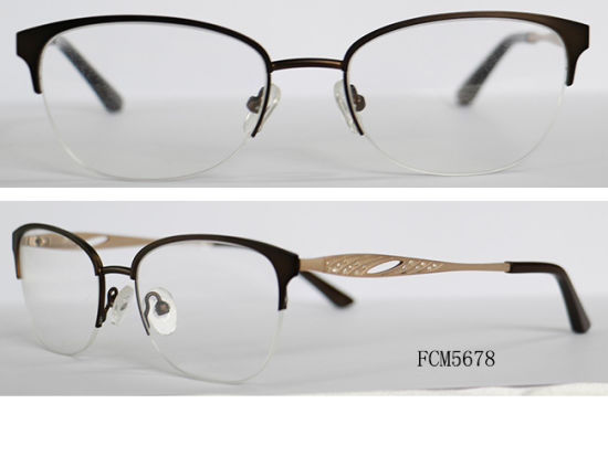 b3ba966b2c4 China Simple Classic Design Half Metal Rim Latest Frame Glasses ...