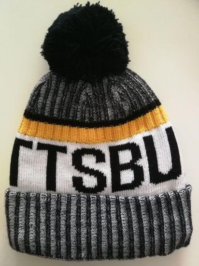 cdcba6287 China USA Team Pittsburgh Warm Winter Cap Hip-Hop Knit Beanie Hats ...