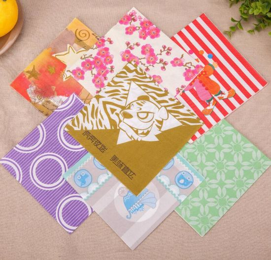 Disposable Colored Dinner Napkins 3 Ply Paper Napkins