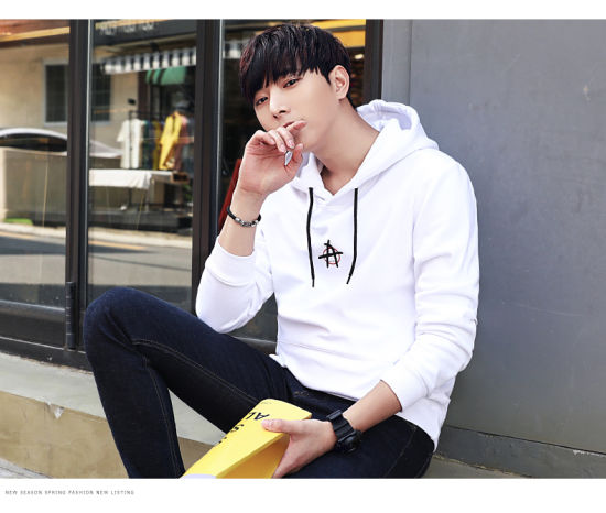 Pullover Cotton/Polyester Print Men's Fashion Hoodie