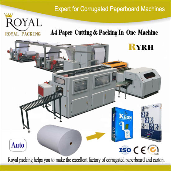 Ryrh A4 Size Paper Cutting and Packing Machine pictures & photos
