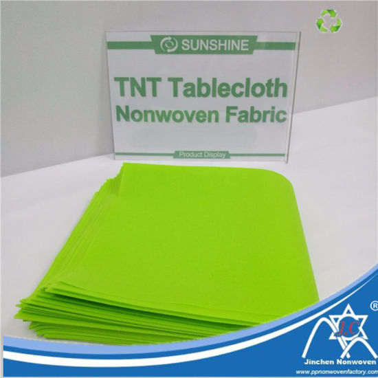 Disposable Color TNT Nonwoven Tablecloth Fabric pictures & photos