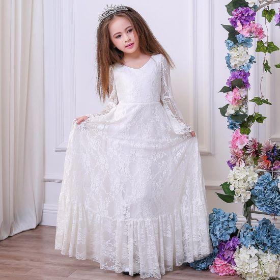 18ec6a15943 China Girl Dress Lace Trumpet Sleeve Flower Girl Dress Dress Skirt ...