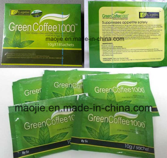 Leptin Green Coffee 1000 Slimming Coffee Weight Loss Coffee (MJ18) pictures & photos