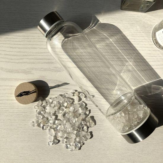 Wholesale 100% Natural Crystal Glass Water Bottles for Fruit Juice