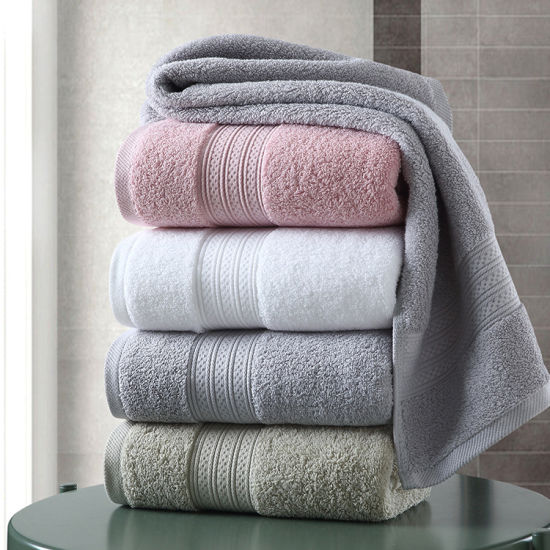3 Pcs 100/% Cotton Towel Set Luxury Fiber Cotton Super Soft Bath Towel Hand Towel
