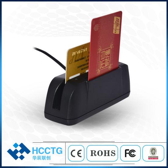 OEM USB 3 Tracks Multifunctional Combo Msr & IC Chip Card Reader (HCC790U-SF)