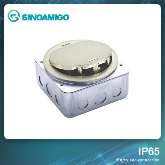 IP65 Waterproof Floor Boxes with Scratching Cover Round Cover Outlet