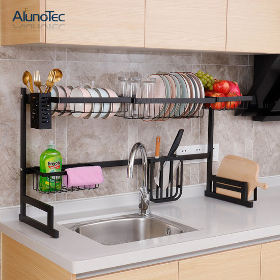 China Kitchen Space Saving Storage Organizer Utensil Holder Shelf Dish Rack Over Sink China Hanger Rack And Dish Rack Price