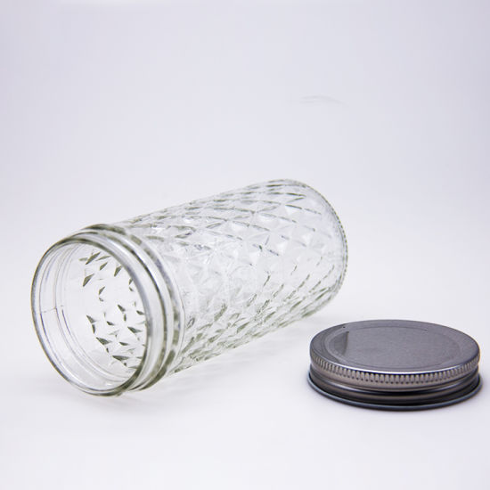 Hot Sale Clear Glass Caviar Storage Jar