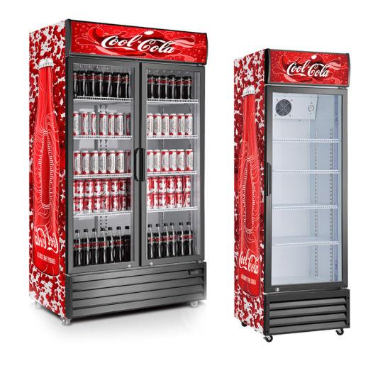 Beverage Cooler for Soda Beer or Wine Upright Commercial Fridge Free