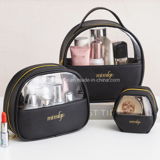 2021 Frosted Waterproof Makeup Luxury Transparent Toiletry PU Cosmetic Bag